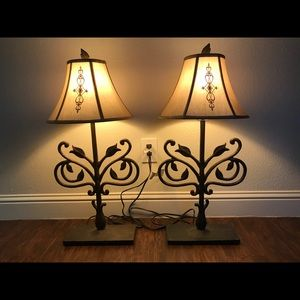 Set of Pottery Barn Lamps